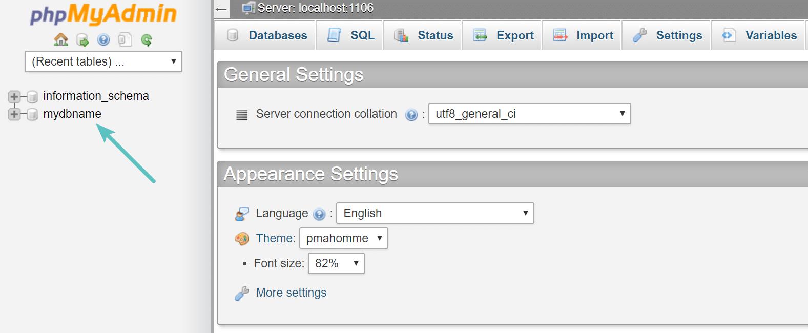 cpanel-database-name