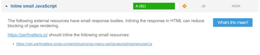 Inline Small JavaScript