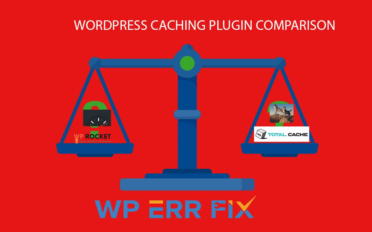 WordPress Caching plugins comparison - WordPress Speed Fix