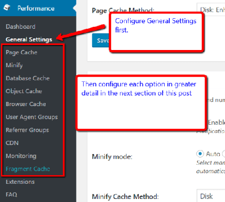 General Settings How To Configure W3 Total Cache